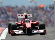 Alonso con la Ferrari