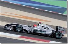 Schumacher al volante della Mercedes