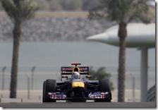 Vettel nelle prove libere del gran premio di Abu Dhabi