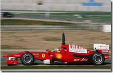 Massa ai test di Valencia del 2010