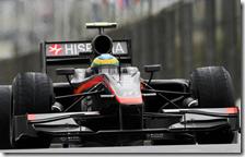 Bruno Senna con l'HRT
