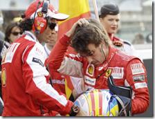 Alonso dopo la gara di Abu Dhabi