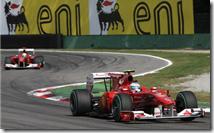 Le due Ferrari al gran premio d'Italia 2010