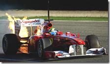 Problema per la F150 di Felipe Massa nei test di Valencia