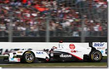 Kobayashi(Sauber) nel gran premio d'Australia 2011