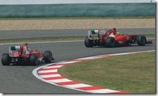 Le due Ferrari nel gran premio di Cina 2011