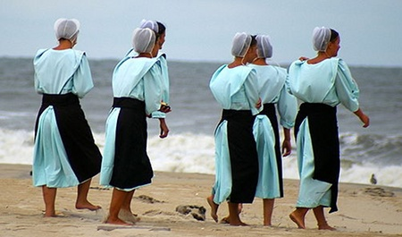 Amish hotties in swimwear at the beach. Watch out Sports Illustrated!