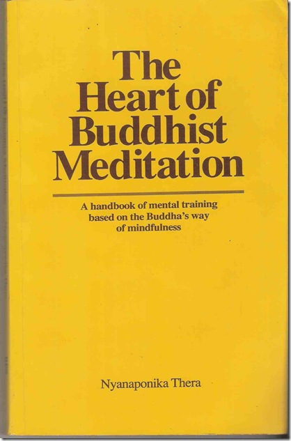 Heart of Buddhist meditation Front Cover low fi