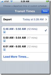 Transit Times page