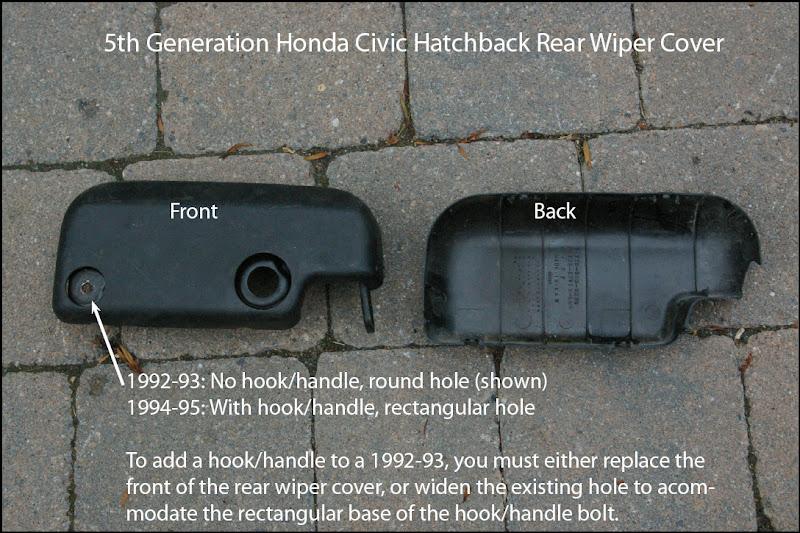 Eg hatch rear window hook handle next by the wiper honda for 1997 honda civic window handle