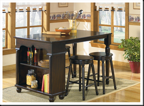 . Patio Furniture Offers Round Pit Group  SHEROL ISLAND COUNTER DINING