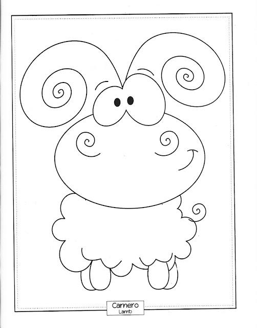 Dibujos de animales divertidos para pintar for Cenefas para dibujar