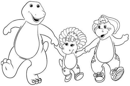Dibujos Para Pintar Barney Sus Amigos