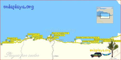 Playas del sector Golfo de Cariaco