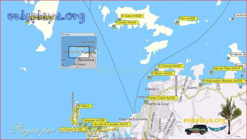 Puerto La cruz - desde Isla de Plata hasta El Morro