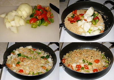 Adding Onion & Bell Pepper