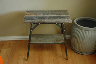 Industrial Farmhouse Side Table for sale - vintageaz.blogspot.com