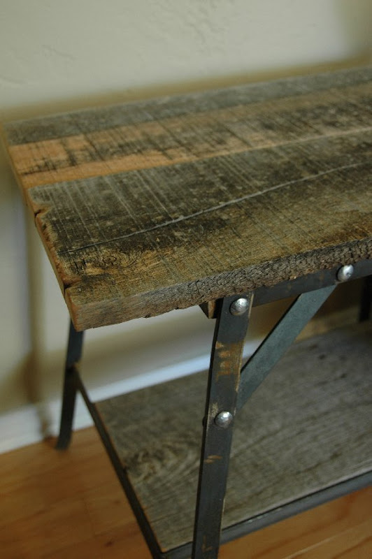 Vintage Industrial Inspired Furniture side table
