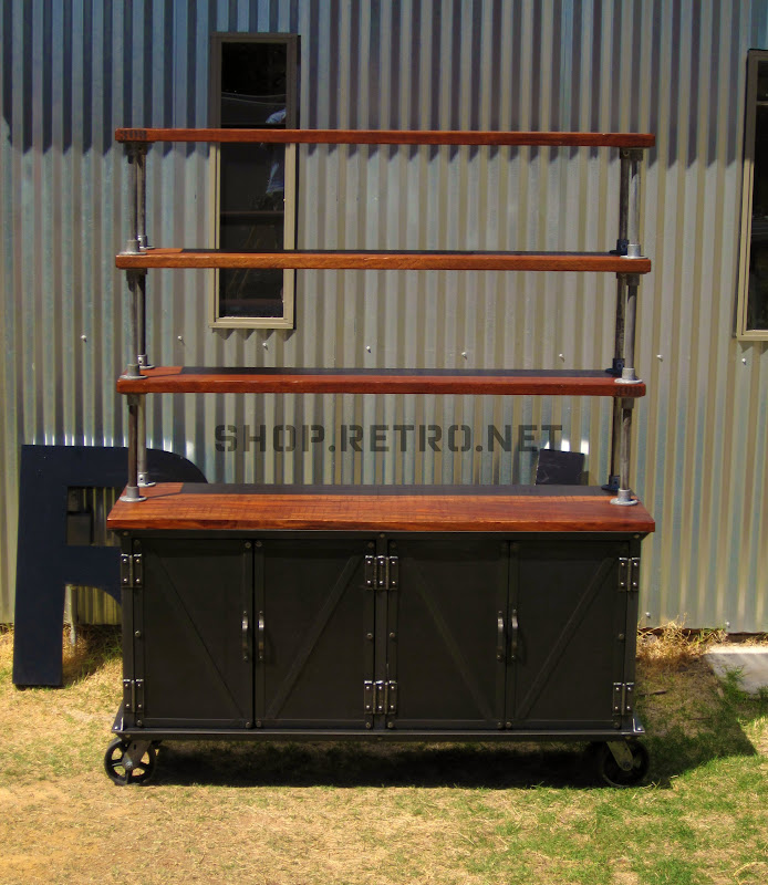 west hutch rustic products elm o desk modular industrial