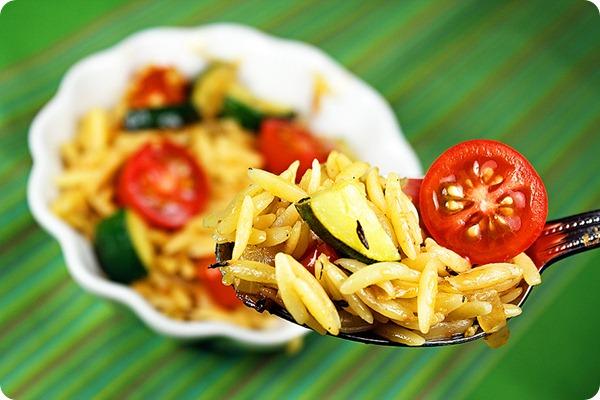 Orzo Zucchini Tomatoes