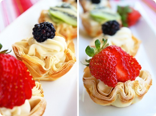 Phyllo Fruit Tartlettes