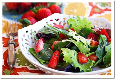 Strawberry Salad with Poppy Seed Vinaigrette