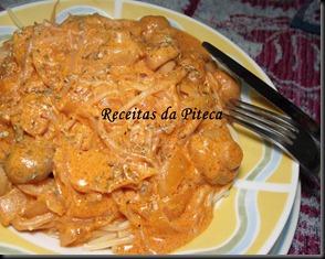 Esparguete com molho de cogumelos e rebentos de soja 1
