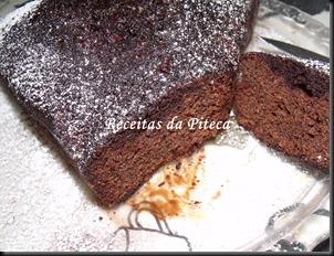 Bolo de chocolate húmido- fatia