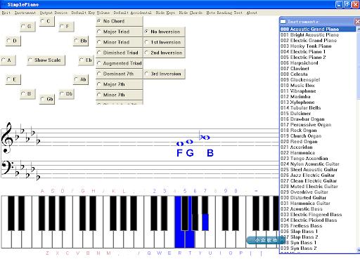 SimplePiano   小巧强大的乐器模拟软件
