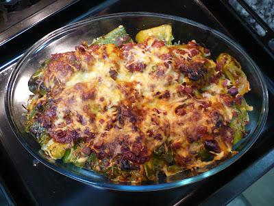 Link to Pimientos verdes al horno gratinados con queso