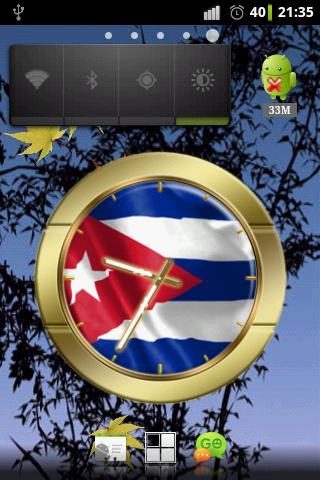 Cuba flag clocks