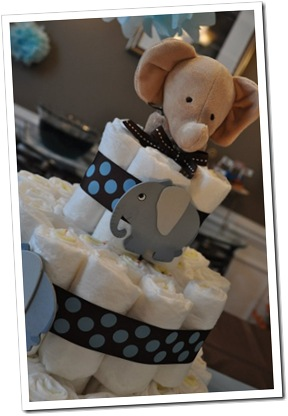 close up diaper cake