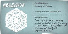 wish snowflake