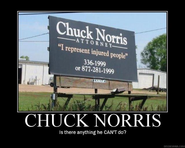 chuck norris motivational poster