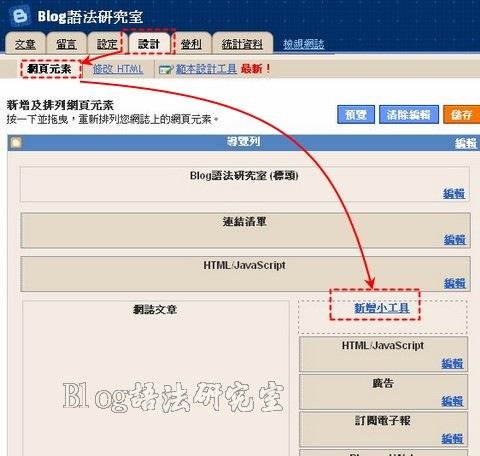 Blogspot提供計數器