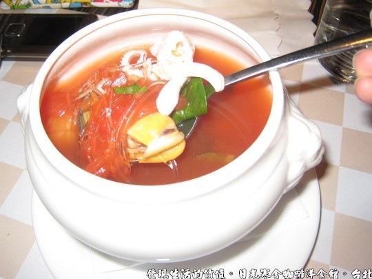 日光寒舍咖啡洋食館,湯-羅馬蕃茄海鮮湯