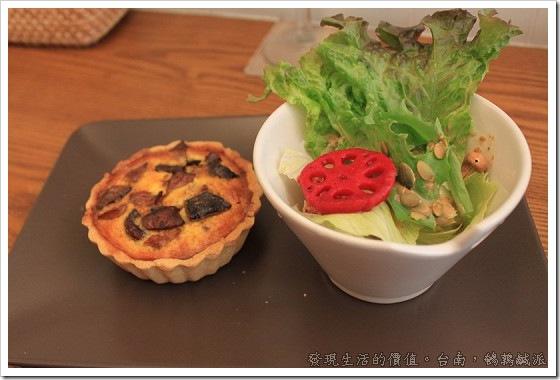 台南「鵪鶉鹹派」嘗試法式鹹派