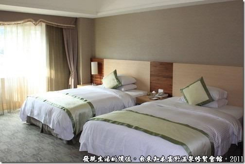 知本富野溫泉休閒會館,客房內的佈置。