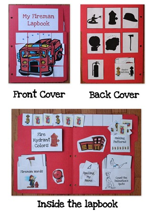 Fireman Lapbook collage