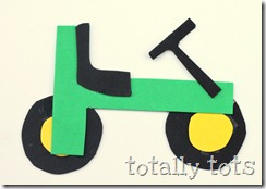 tractor made from letter t