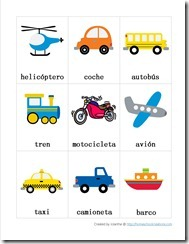Transportation Preschool Pack Part 1 SPANISH 1