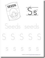 Seeds tracing sheet