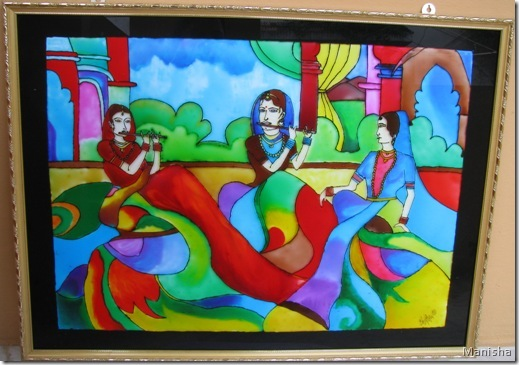 Music in air pattern glass painting glass painting - Creative glass painting ideas ...