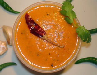 Red Chili Tomato Chutney Recipe