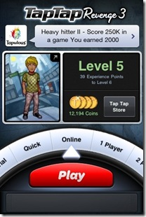 TapTap Revenge3 iPod Touch game