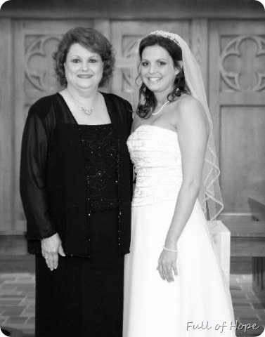 mom and me bw