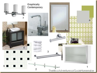 kristen's bath-graphically contemporary