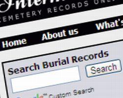 cemetery records search