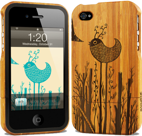 Grovemade bamboo iPhone 4 cases sidebar image
