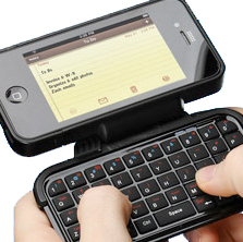 thinkgeek cool iPhone 4 cases with flip-out keyboard